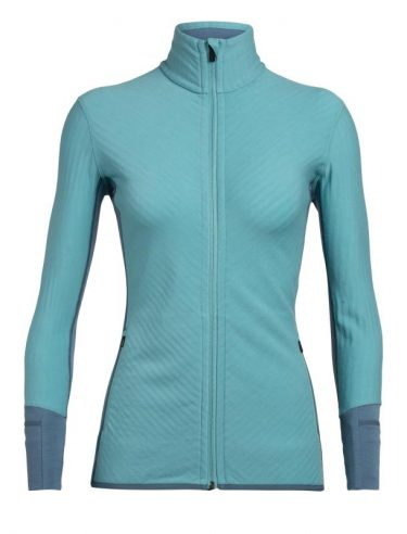 Icebreaker Dame Descender ull fleece jakke